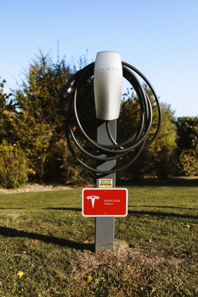 Tesla fast charging station