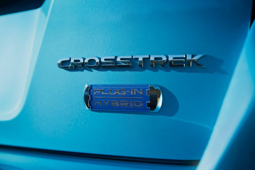 Subaru Crosstrek Hybrid Badge