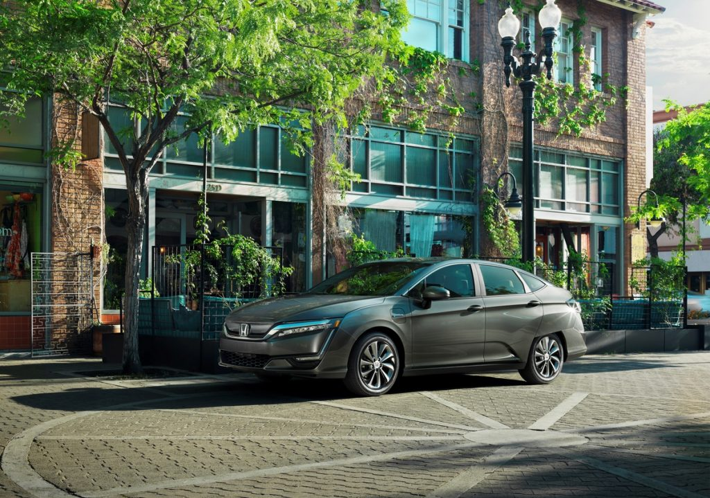 Honda Clarity Electric Car from the side
